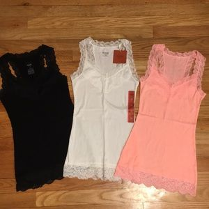 Mossimo Supply Co. lace tanks